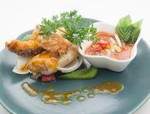 Platos cocina del international de Tailandia y de China Imagen de archivo