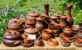Platos de cerámica Foto de archivo libre de regalías