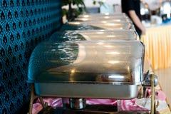Platos de Cheffing para la comida fría Fotos de archivo libres de regalías