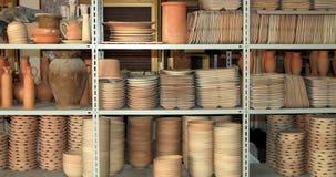Platos de la arcilla Foto de archivo libre de regalías