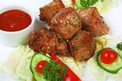 Platos de la carne de la carne asada Fotografía de archivo