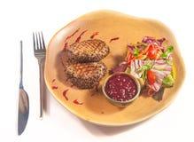 Platos de la cocina internacional en un restaurante Imagen de archivo libre de regalías