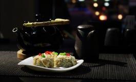 Platos de la cocina japonesa Fotos de archivo