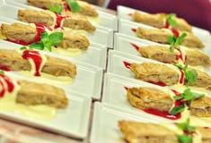 Platos de la ensalada Foto de archivo