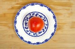 Platos del tomate fotografía de archivo libre de regalías