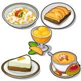 Platos deliciosos hechos del mango tropical ilustración del vector