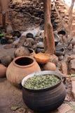 Platos en un hogar africano Imágenes de archivo libres de regalías