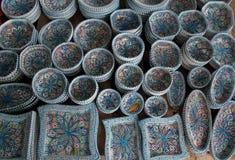 Platos hechos a mano orientales Fotografía de archivo libre de regalías