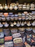 Platos hermosos de Morrocan Fotografía de archivo libre de regalías
