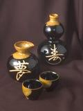 Platos japoneses Imagen de archivo libre de regalías