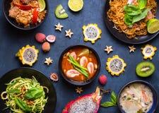 Platos tailandeses del alimento Fotografía de archivo libre de regalías