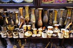 Platos turcos de cerámica de plata orientales del vintage Imagenes de archivo