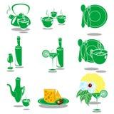 Platos verdes Foto de archivo libre de regalías