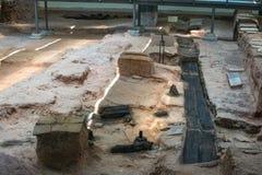 Plats av arkeologin Arkivfoto