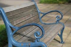 Plats av bänken av parkera Royaltyfri Foto