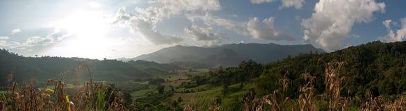Plats av bergskedja i Thailand Arkivfoton