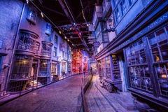 Plats av byggnader från den Harry Potter filmen Arkivfoton