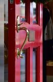 Plats av den röda dörren Arkivbild