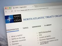 Plats av organisationen för fördrag för norrAtlanten - NATO Arkivbilder