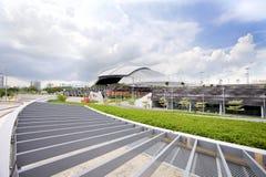 Plats av Singapore medborgarestadion Fotografering för Bildbyråer