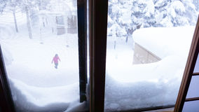 Plats av utomhus- snöa dagar Royaltyfria Bilder
