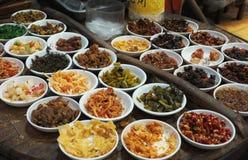 Plats chinois d'épice Images libres de droits