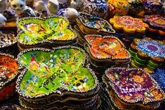 Plats colorés de marché de l'Asie Image libre de droits