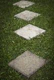 Plats concrets carrés de Walway Images libres de droits