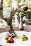 Plats décoratifs italiens de la nourriture A de gâteau beaux Photographie stock