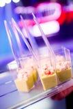 Plats délicieux gastronomes et restauration de nourriture (cuisine de fusion) Photos stock