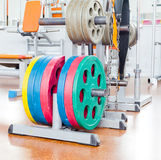Plats de Barbell Photographie stock