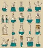 Plats de chimie illustration libre de droits