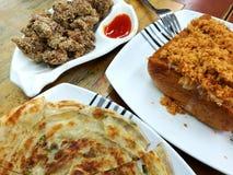 Plats de nourriture de rue de Taïwan Images libres de droits