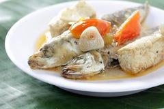 Plats de poisson bouillis Photo stock
