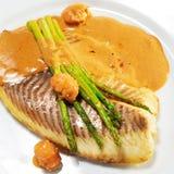 Plats de poisson chauds - filet de goujon de mer Photos libres de droits