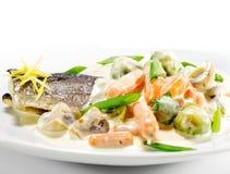 Plats de poisson chauds - filet de truite Photos stock