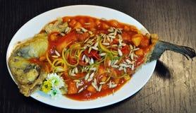 Plats de poisson chinois Photo libre de droits