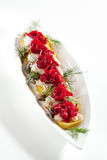 Plats de poisson froids - poissons avec la pomme de terre Photographie stock libre de droits