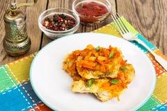 Plats de poisson grecs et recette Photo libre de droits