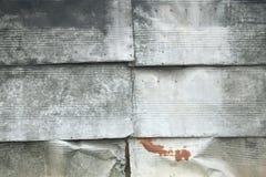 Plats de zinc comme revêtement mural Image libre de droits