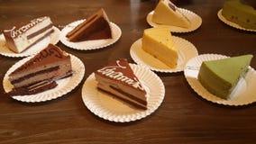 Plats des gâteaux délicieux Photographie stock libre de droits