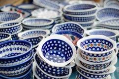 Plats en céramique Photos libres de droits