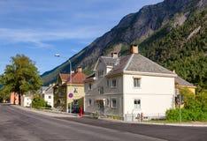 Plats för arv för Rjukan townscapeRjukan-Notodden UNESCO industriell fotografering för bildbyråer