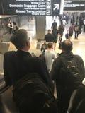 Plats för Atlanta flygplatsrulltrappa Arkivbilder
