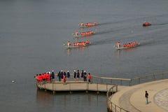 Plats för drakefartyglopp i kinesiska traditionella Dragon Boat Festiv Royaltyfria Foton
