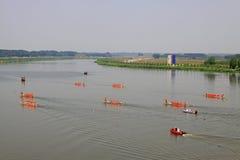 Plats för drakefartyglopp i kinesiska traditionella Dragon Boat Festiv Royaltyfri Fotografi