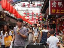 Plats för gatamarknad i Peking Arkivfoton