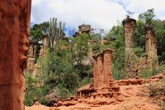 Plats för Isimila stenålder Arkivfoton