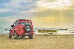 Plats för Jericoacoara strandlandskap Arkivfoton