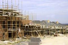 Plats för konstruktion 2 av det nya huset som byggs arkivbilder